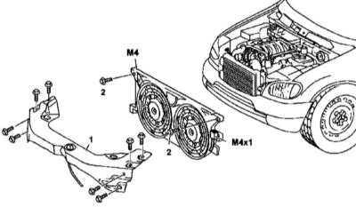 5.20 и установка вспомогательной вентиляторной сборки, - модели 163.136/154/157/172 соответствующей комплектации Mercedes-Benz W163