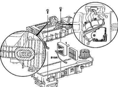5.23 Снятие и установка датчика температуры испарителя