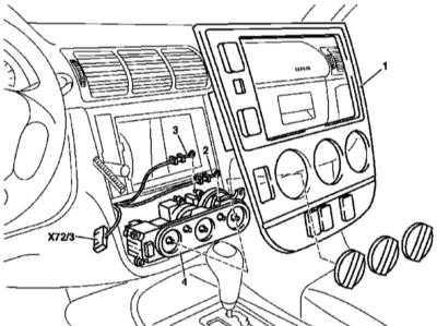 5.12 и установка панели управления функционированием систем отопления / вентиляции / кондиционирования воздуха (для моделей 163.113/136/154/172/174 по 31.8.01)