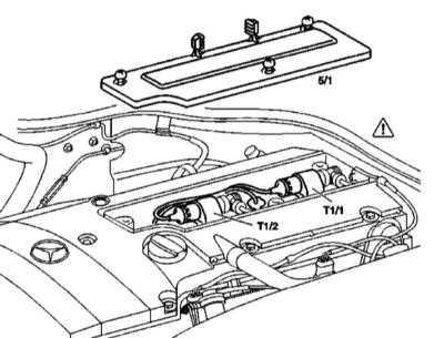 7.7 Снятие и установка катушек зажигания, - бензиновые модели