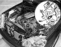 7.10 Снятие и установка датчика Холла распределительного вала, - бензиновые двигатели серий 112, 113 и дизельные двигатели серии 612
