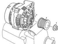7.25 Снятие и установка приводного шкива генератора