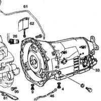 9.5 Снятие и установка АТ с гидротрансформатором