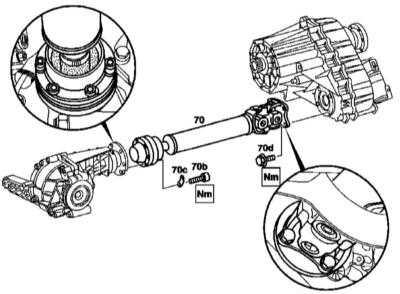 10.8 Снятие и установка переднего карданного вала