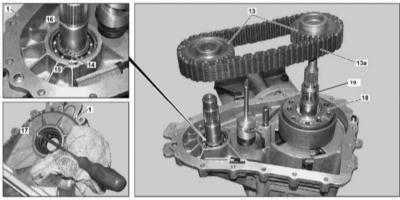 10.27 Снятие и установка сборки планетарного редуктора межосевого дифференциала раздаточной коробки