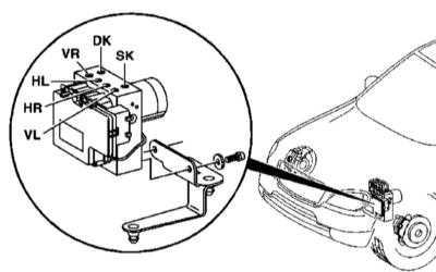 11.7 Снятие и установка гидромодулятора ETS/ESP