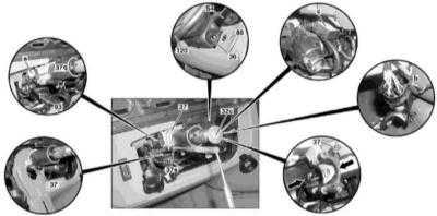 12.29 Снятие и установка замка блокировки рулевой колонки