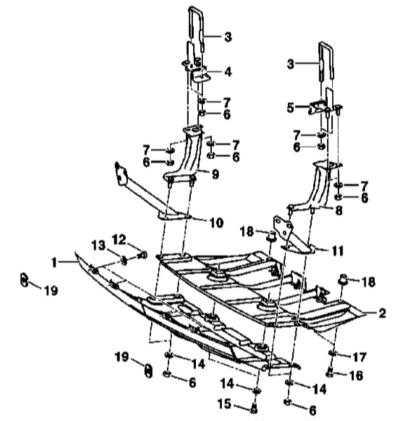 13.13 Снятие и установка панелей нижней защиты двигательного отсека