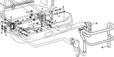 13.15 Снятие и установка наружного держателя запасного колеса (при соответствующей комплектации)
