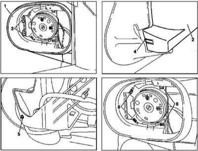 13.24 Снятие и установка дверных зеркал заднего вида