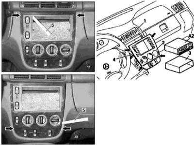 13.28 Снятие и установка центральной (консольной) секции панели приборов