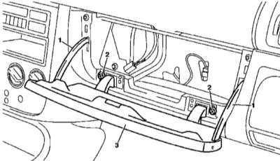13.30 установка и регулировка крышки главного вещевого ящика (модели выпуска по 31.08.99)
