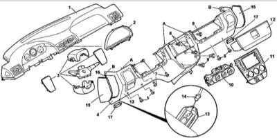 13.31 Снятие и установка нижней и верхней основных секций панели приборов