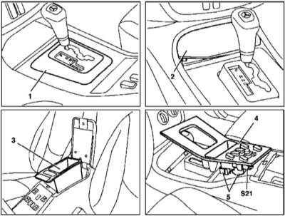 13.34 и установка облицовочной крышки рычага селектора (на примере моделей выпуска по 31.08.01)