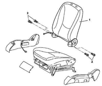 13.42 Снятие и установка спинок сидений