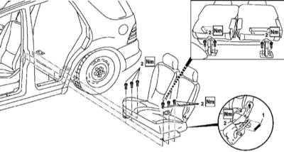 13.41 Снятие и установка заднего сиденья