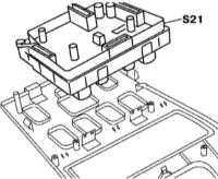 14.15 Снятие и установка группы переключателей центральной консоли