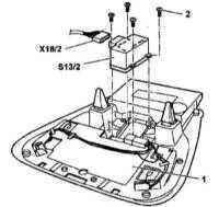 14.20 Снятие и установка переключателя управления функционированием электропривода верхнего люка