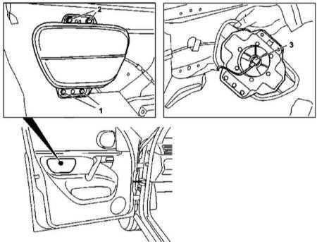 14.43 Снятие и установка модулей боковых подушек безопасности