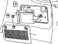14.49 Снятие и установка CD-чейнджера (при соответствующей комплектации)