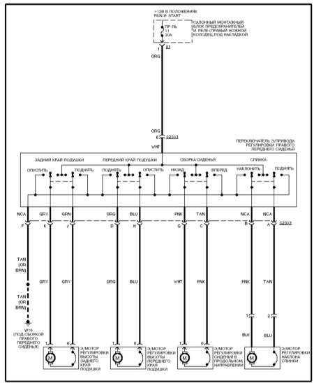 15.34 Электропривод переднего пассажирского сиденья (ML 430)