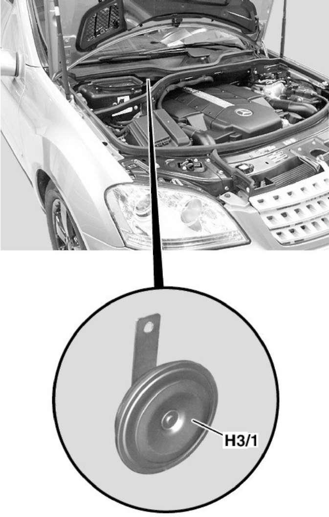 3.8 Противоугонная сигнализация (EDW) Mercedes-Benz W164 (ML Class)