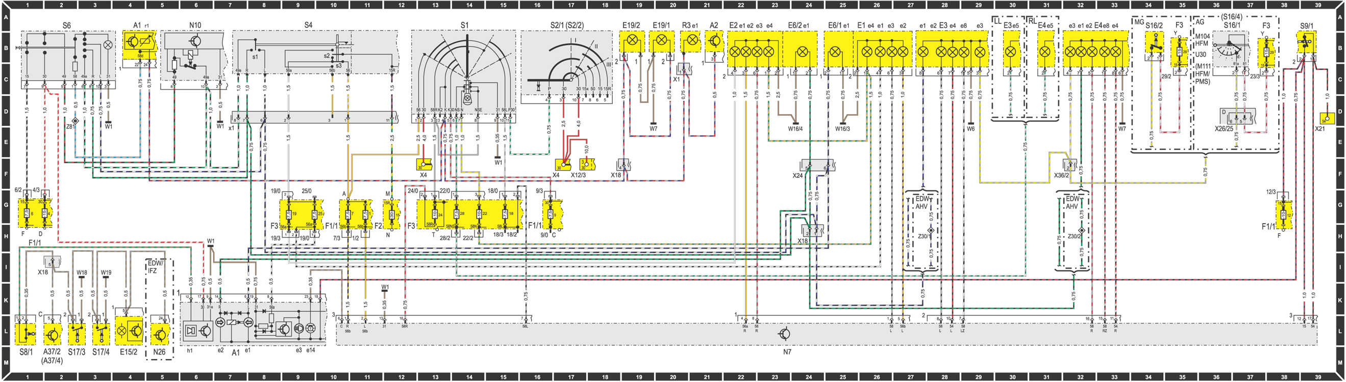 Схема системы охлаждения w220
