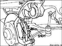 12.5 Накладки передних тормозных колодок Mercedes-Benz W201