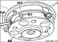 12.14 Тормозные колодки стояночного тормоза Mercedes-Benz W201