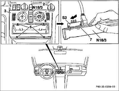 6.5 Прибор обслуживания отопления Mercedes-Benz W201