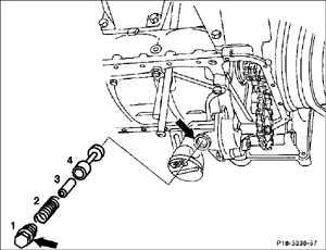 4.6 Масляный редукционный клапан Mercedes-Benz W201