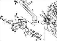 4.9 Теплообменник масло-/ охлаждающей жидкости Mercedes-Benz W201