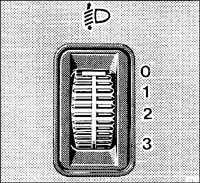 1.8.3 Регулировка дальности света Mercedes-Benz W201