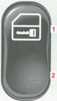 2.1.5 Переключатель системы центральной блокировки замков Mercedes-Benz W208 (CLK Class)