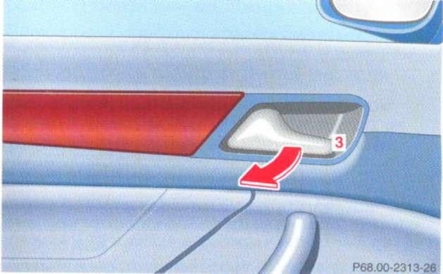 2.1.7 Открывание двери Mercedes-Benz W208 (CLK Class)