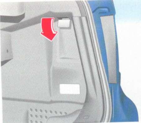 2.1.13 Аварийная разблокировка крышки люка топливного бака Mercedes-Benz W208 (CLK Class)