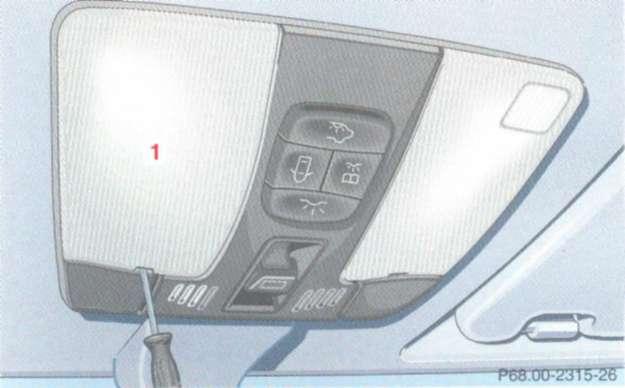 2.13.4 Механическое управление сдвигаемым и поднимаемым верхним люком
