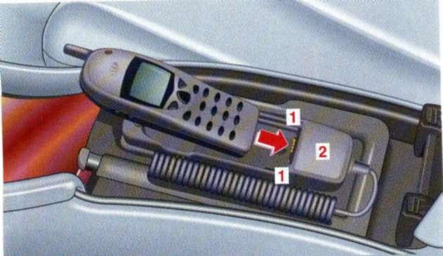 2.14.3 Радиотелефон в вещевом отсеке под консолью-подлокотником