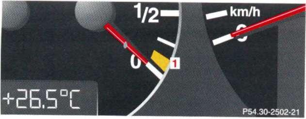 4.1 Предупредительные сигнальные и контрольные лампы на комбинации приборов Mercedes-Benz W208 (CLK Class)