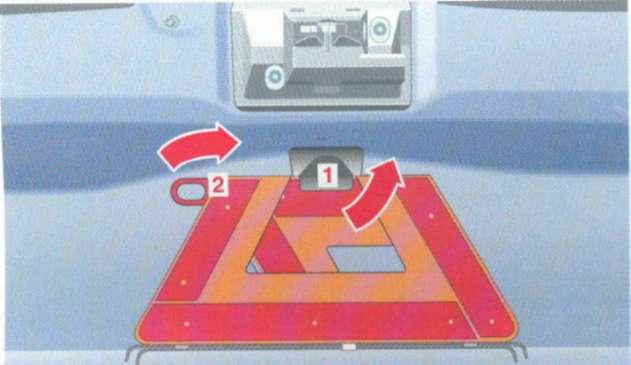 5.4 Знак аварийной остановки Mercedes-Benz W208 (CLK Class)