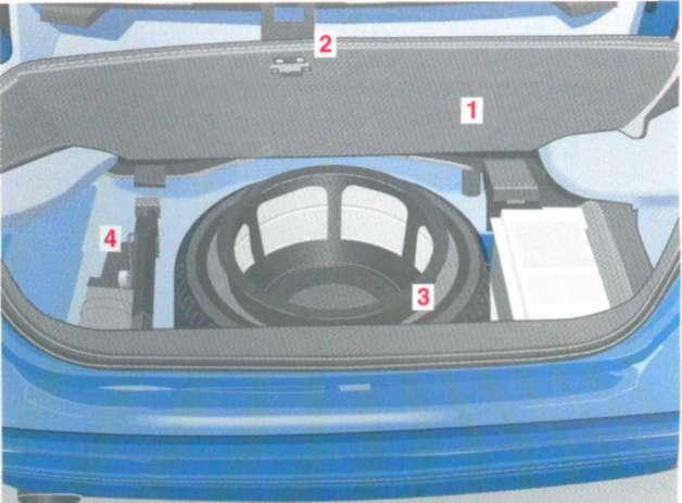 5.5 Дополнительный отсек под полом багажника - запасное колесо - комплект бортового инструмента Mercedes-Benz W208 (CLK Class)