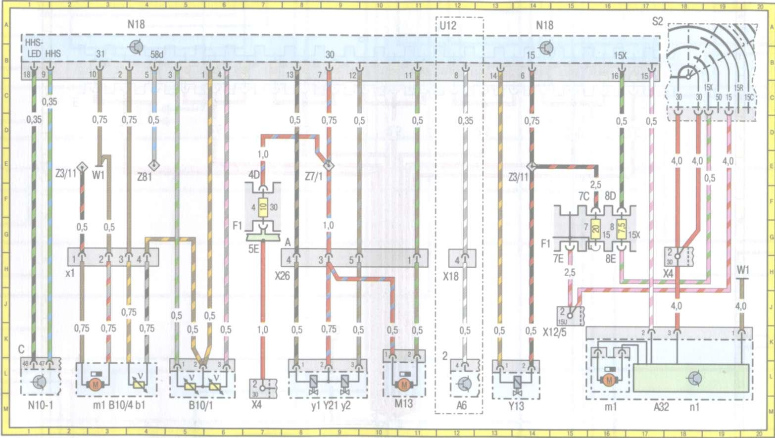 схема стеклоподемника w210