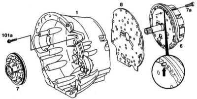8.10 Снятие и установка многодискового тормоза В1 и масляного насоса
