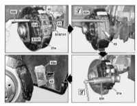 10.8 Снятие и установка тормозных колодок