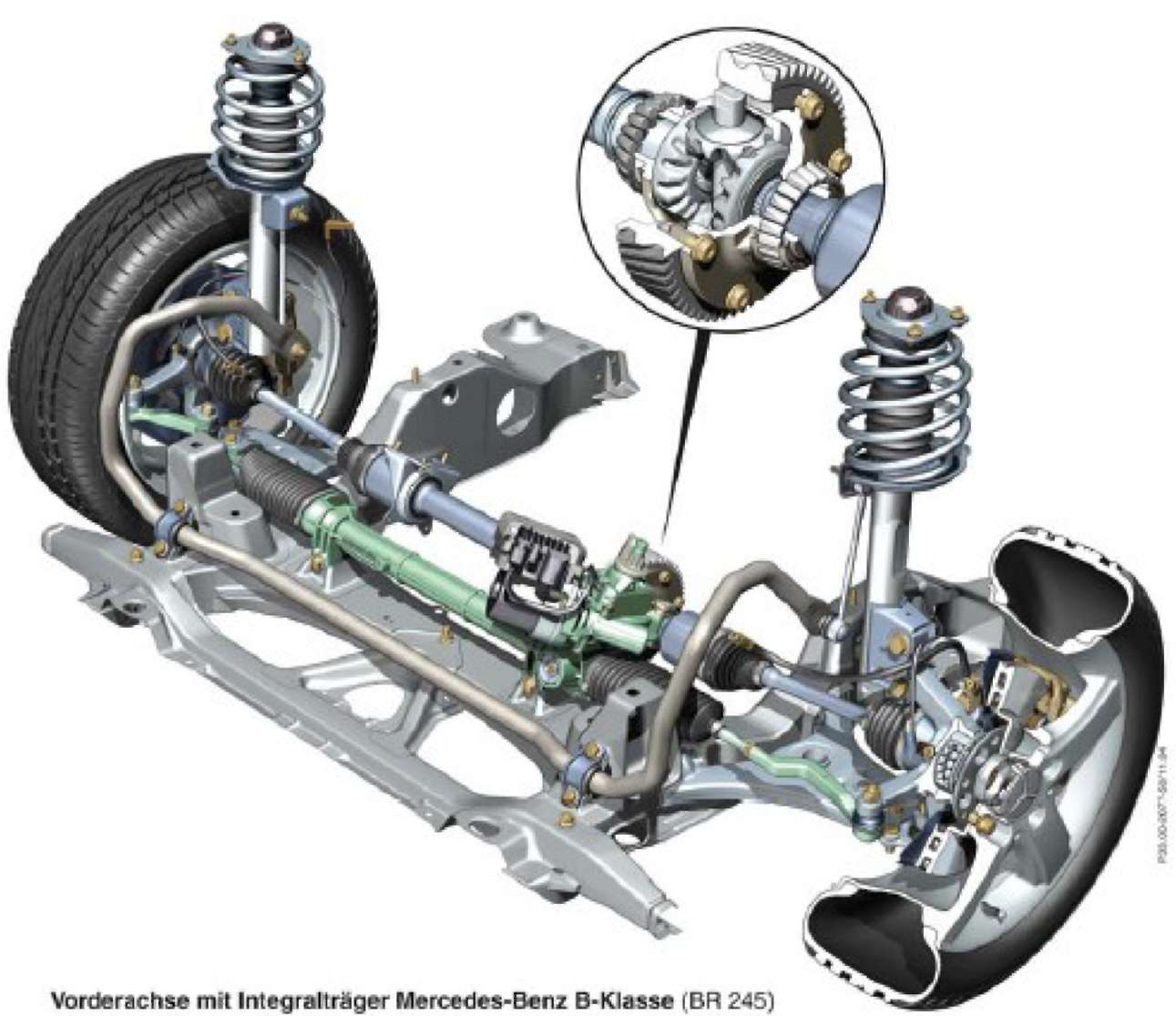 Схема передней подвески мерседес спринтер