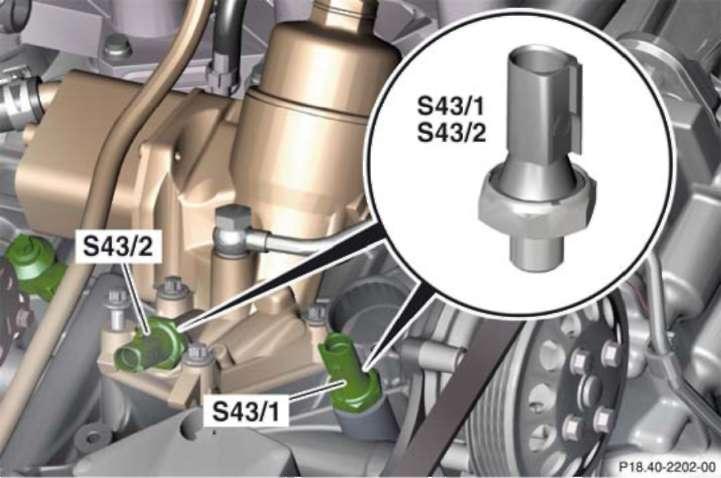3.2.21 Выключатель аварийной индикации давления масла (S34/1)