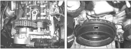 4.8 Проверка состояния цепи привода ГРМ на двигателе М628