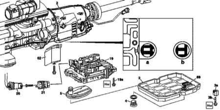 8.5 Снятие и установка электрогидравлического блока управления переключениями