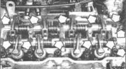 3.5 Коромысла - снятие, проверка и установка
