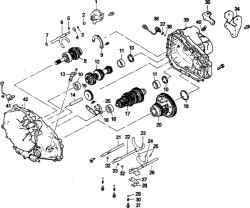 9.5 Переборка механической коробки передач - общее описание Mitsubishi Colt
